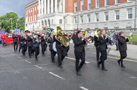 Carlton Brass lead the 2019 'Whit Walks' for the first time.